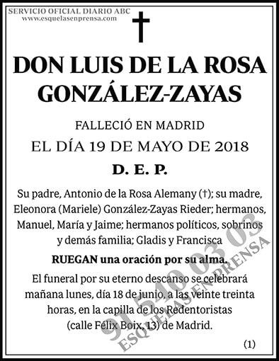 Luis de la Rosa González-Zayas